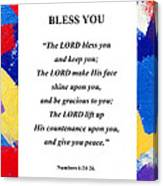 Bless You Poster Canvas Print