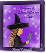 Blessed Samhain Witch Canvas Print