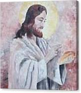 Blessing Of The Bread Canvas Print
