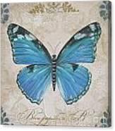 Bleu Papillon-b Canvas Print
