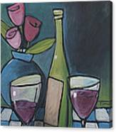 Blind Date With Wine Canvas Print