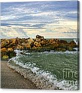 Blind Pass Storm Rocks - Captiva  Canvas Print