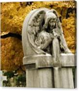 Blissful Angel In Autumn Canvas Print
