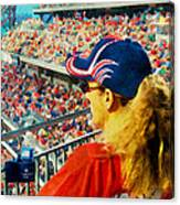 Blonde At The Ballgame Canvas Print