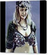 Blonde Bellydancer Canvas Print