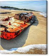 Blood And Guts I - Outer Banks Canvas Print