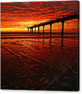 Blood Red Dawn Canvas Print