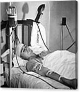 Blood Transfusion. First Lieutenant Canvas Print