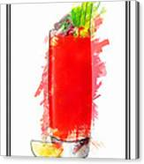 Bloody Mary Cocktail Marker Sketch Canvas Print