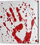 Bloody Print Canvas Print