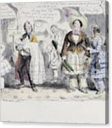 Bloomer Cartoon, C1851 Canvas Print