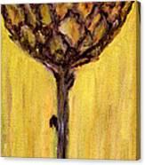 Blooming Artichoke - Cynara Cardunculus Canvas Print