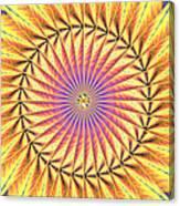 Blooming Seasons Kaleidoscope Canvas Print