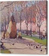 Blooms On Comm Ave Canvas Print