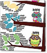 Bloom's Taxonomy With Verbs Canvas Print