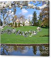 Blossom-framed House Canvas Print