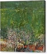 Blossoming Tree In The Garden Canvas Print