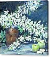 Blossoms And Apples Canvas Print