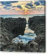 Blowing Rocks Sunrise Canvas Print