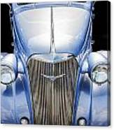 Blue 1937 Chevy Too Canvas Print