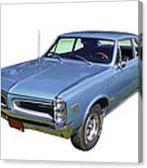 Blue 1966 Pointiac Lemans Canvas Print