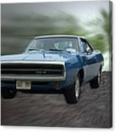 Blue 70 Charger Canvas Print
