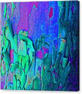 Blue Abstract Trunk Canvas Print