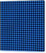 Blue And Black Checkered Pattern Cloth Background Canvas Print