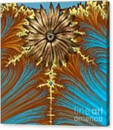 Blue And Brown Synergy Canvas Print