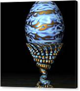 Blue And Golden Egg Canvas Print