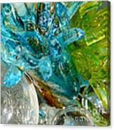 Blue And Green Glass Abstract Canvas Print