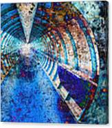 Blue And Rust Grunge Tunnel Canvas Print