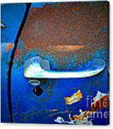 Blue And Rusty Picking Canvas Print