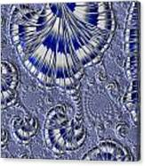 Blue And Silver 1 Canvas Print