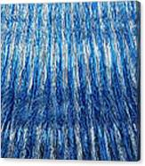 Blue And Silver Plastic Abstract Canvas Print