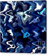 Blue And Turquoise Abstract Canvas Print