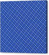 Blue And White Diagonal Plaid Pattern Cloth Background Canvas Print
