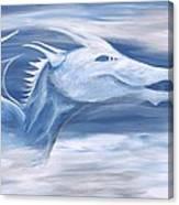 Blue And White Dragon Canvas Print