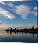 Brushstrokes On The Sky - Blue And White Serenity Canvas Print