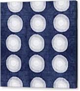 Blue And White Shibori Balls Canvas Print