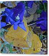Blue And Yellow Not Making Green Canvas Print