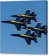 Blue Angel Diamond Canvas Print