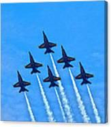 Blue Angel Team Canvas Print