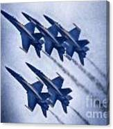 Blue Angels Fa 18 V19 Canvas Print