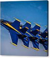 Blue Angels Single File Canvas Print