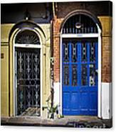 Blue Arch Door Canvas Print