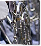 Blue Band Brass Canvas Print