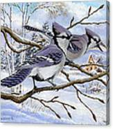 Blue Bandits Winter Afternoon Canvas Print