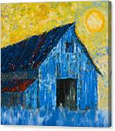 Blue Barn Number One Canvas Print