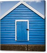 Blue Beach Hut Canvas Print